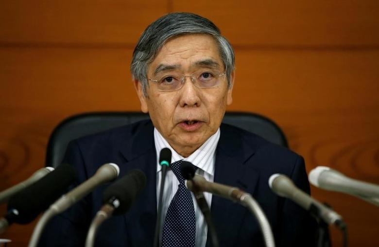 2016年9月21日,日本央行总裁黑田东彦出席记者会。REUTERS/Toru Hanai