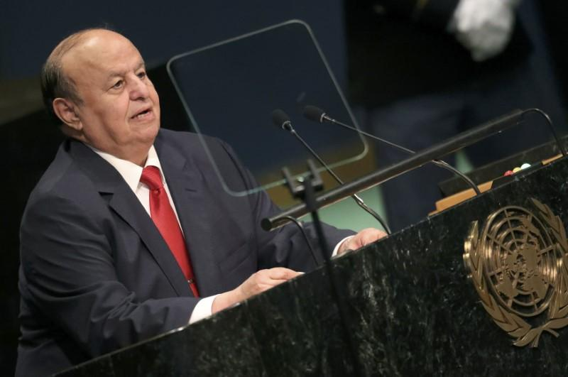 Yemen president vows at U.N. to 'extract Yemen from claws of Iran'