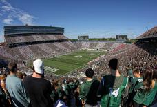 Sep 24, 2016; East Lansing, MI, USA;  General view of Spartan Stadium during the first half of a game between the Michigan State Spartans and the Wisconsin Badgers. Mandatory Credit: Mike Carter-USA TODAY Sports