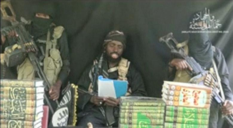 The purported leader of Nigerian Islamist militant group Boko Haram Abubakar Shekau appears at an unknown location in a still image taken from an undated video posted on social media on September 25, 2016. Social media/Handout via Reuters TV