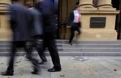 Le développement de Deutsche Börse en Asie a été relégué au second plan par le projet de fusion avec London Stock Exchange Group, selon trois sources proches du dossier. /Photo d'archives/REUTERS/Kai Pfaffenbach