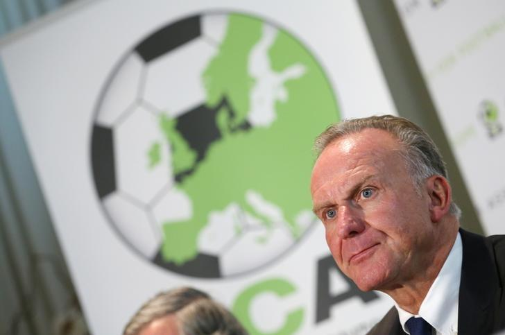 European Club Association (ECA) Chairman Karl-Heinz Rummenigge addresses a news conference after ECA's 17th General Assembly in Geneva, Switzerland, September 6, 2016.  REUTERS/Denis Balibouse/Files