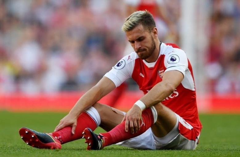 Britain Football Soccer - Arsenal v Liverpool - Premier League - Emirates Stadium - 14/8/16Arsenal's Aaron Ramsey after sustaining an injuryAction Images via Reuters / Tony O'BrienLivepic