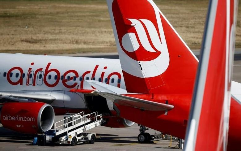 German carrier Air Berlin's aircrafts are pictured at Tegel airport in Berlin, Germany, September 29, 2016.    REUTERS/Axel Schmidt