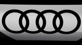 An Audi logo is seen at the Mondial de l'Automobile, Paris auto show, during media day in Paris, France, September 30, 2016. REUTERS/Jacky Naegelen