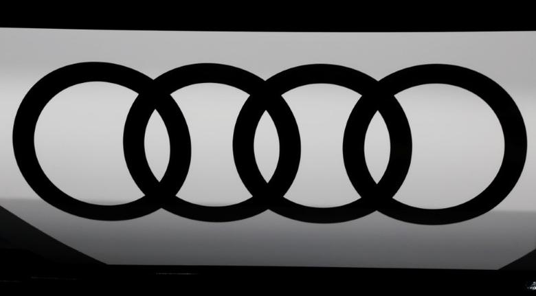 An Audi logo is seen at the Mondial de l'Automobile, Paris auto show, during media day in Paris, France, September 30, 2016. REUTERS/Jacky Naegelen