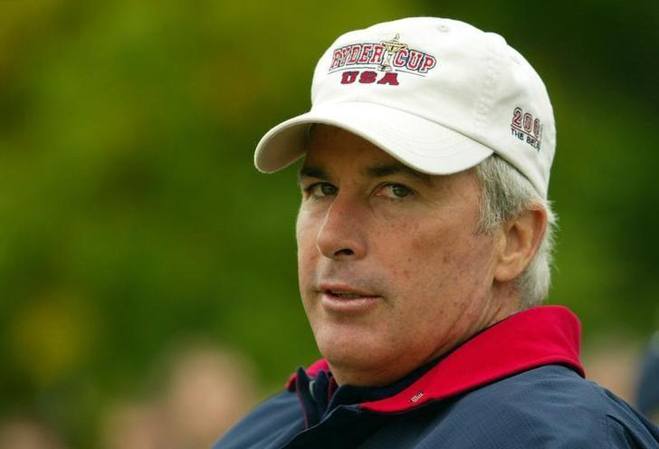U.S captain Curtis Strange watches play during the  34th Ryder Cup at the Belfry near Birmingham September 27, 2002. Darren Staples/REUTERS/Files