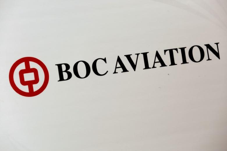 The company logo of BOC Aviation is displayed during a news conference ahead of its listing in Hong Kong, China May 18, 2016. REUTERS/Bobby Yip