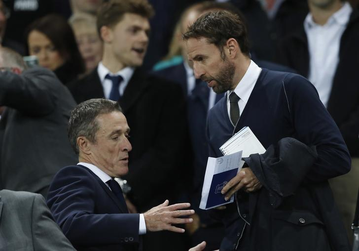 Britain Football Soccer - Everton v Crystal Palace - Premier League - Goodison Park - 30/9/16England interim manager Gareth Southgate in the stands before the matchAction Images via Reuters / Carl RecineLivepic