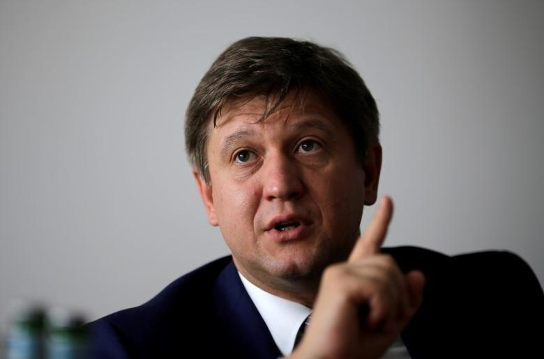 Ukrainian Finance Minister Oleksandr Danylyuk speaks during an interview with Reuters in Berlin, Germany, August 30, 2016.     REUTERS/Joachim Herrmann