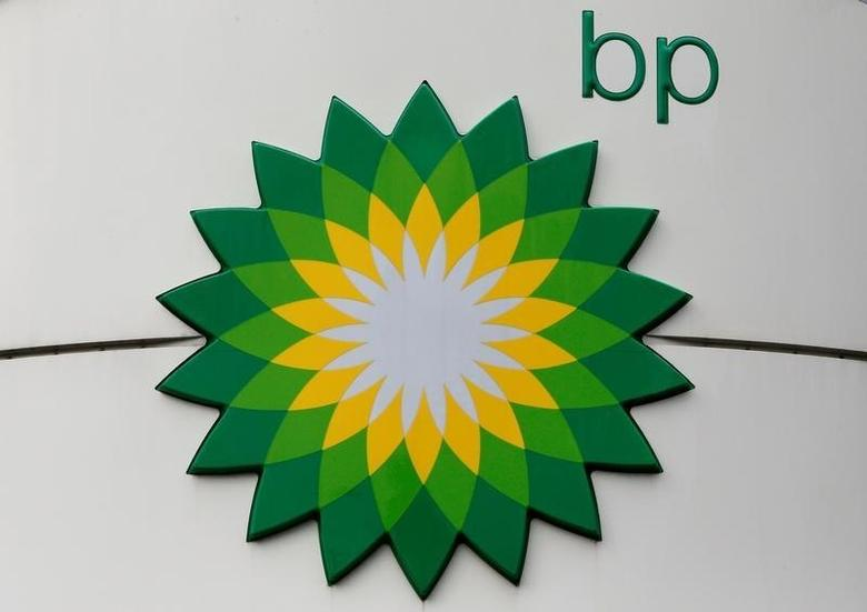 The logo of BP is on display at a petrol station in Moscow, Russia, July 4, 2016. REUTERS/Sergei Karpukhi/File photo