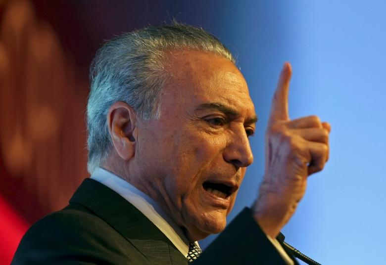 Brazil's President Michel Temer attends an economics and politics forum in Sao Paulo, Brazil September 30, 2016. REUTERS/Paulo Whitaker