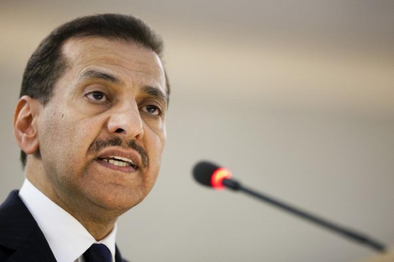 Saudi Arabia's Human Rights Commission Chairman Bandar bin Mohammed Al-Aiban addresses the high level segment of the 16th session of the Human Rights Council at the United Nations European headquarters in Geneva, February 28, 2011. REUTERS/Valentin Flauraud/File Photo