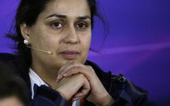 Sauber Formula One team principal Monisha Kaltenborn  in Melbourne March 13, 2015.  REUTERS/Mark Dadswell