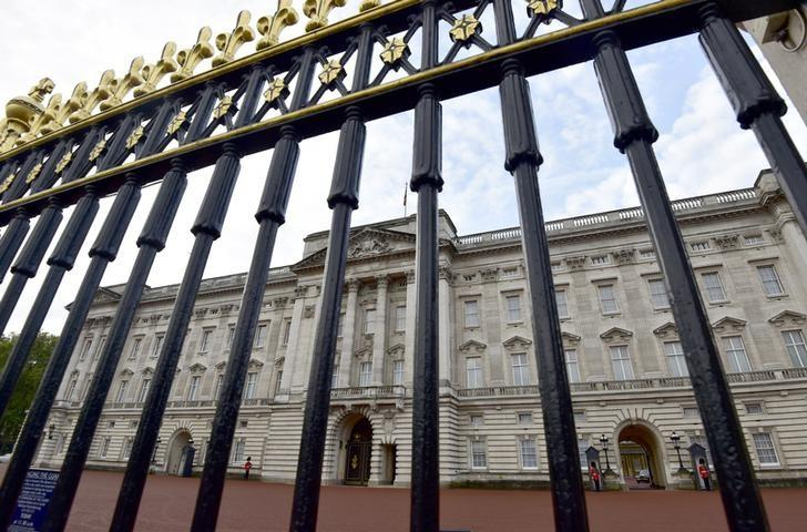 Buckingham Palace is seen through the perimeter fence in central London, Britain October 24, 2014. REUTERS/Toby Melville/File Photo