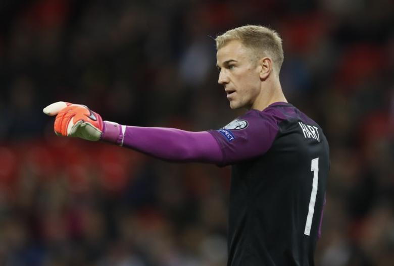 Football Soccer Britain - England v Malta - 2018 World Cup Qualifying European Zone - Group F - Wembley Stadium, London, England - 8/10/16England's Joe Hart Action Images via Reuters / Carl Recine