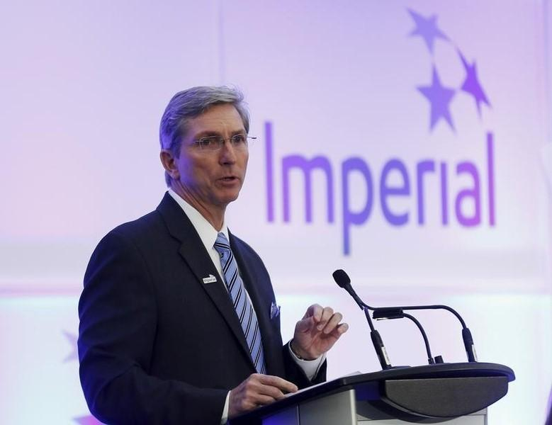 President and CEO Rich Kruger of Imperial Oil addresses shareholders during the company's annual general meeting in Calgary, Alberta, April 30, 2015. REUTERS/Todd Korol
