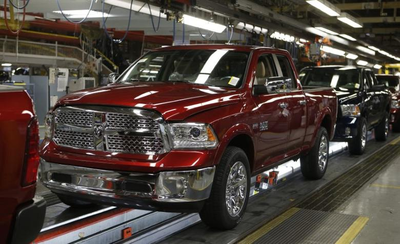 A Dodge Ram 2014 pickup truck on the assembly line in a file photo. REUTERS/Rebecca Cook