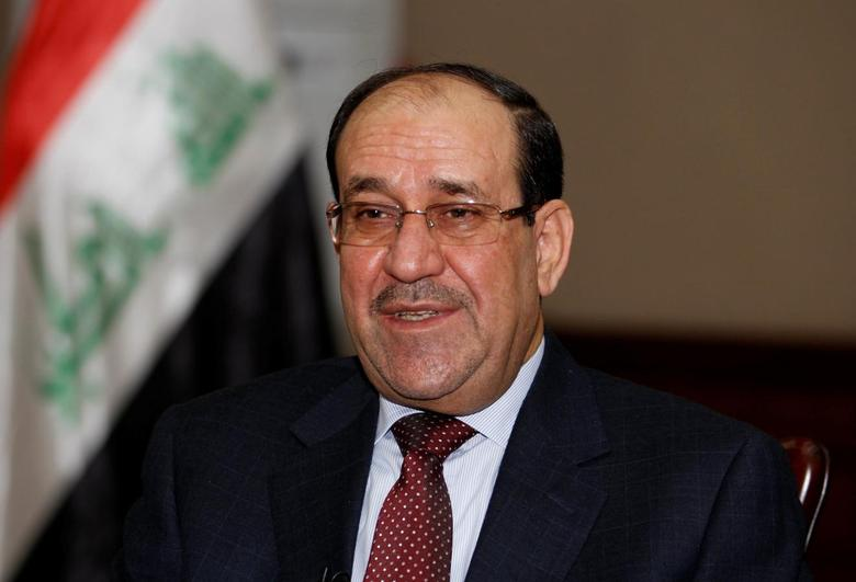 Nuri al-Maliki speaks during an interview with Reuters in Baghdad January 12, 2014. REUTERS / Thaier Al-Sudani