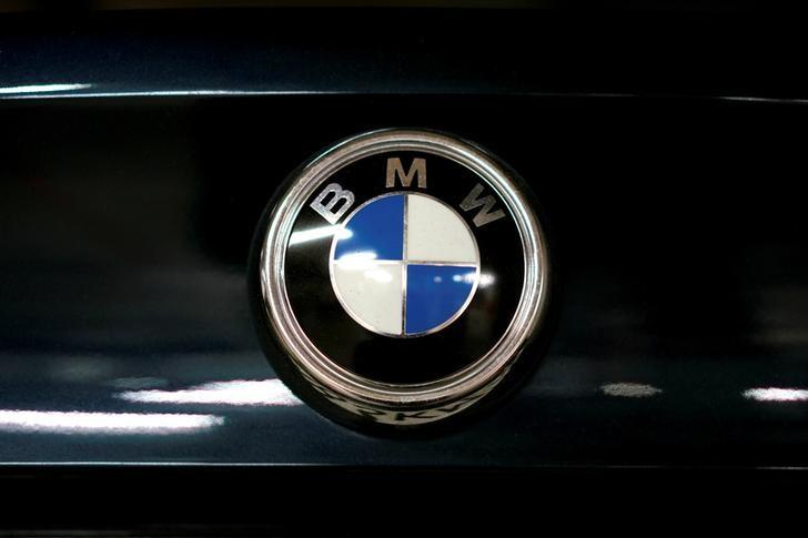 A view shows the logo of BMW on a car in Moscow, Russia, July 6, 2016. REUTERS/Maxim Zmeyev/File Photo