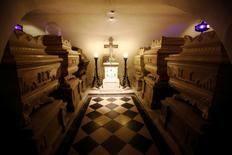 The tomb of last French King Charles X can be found in the crypt of the church of Kostanjevica, near Nova Gorica, Slovenia October 11, 2016. Picture taken October 11, 2016. REUTERS/Srdjan Zivulovic. REUTERS/Srdjan Zivulovic