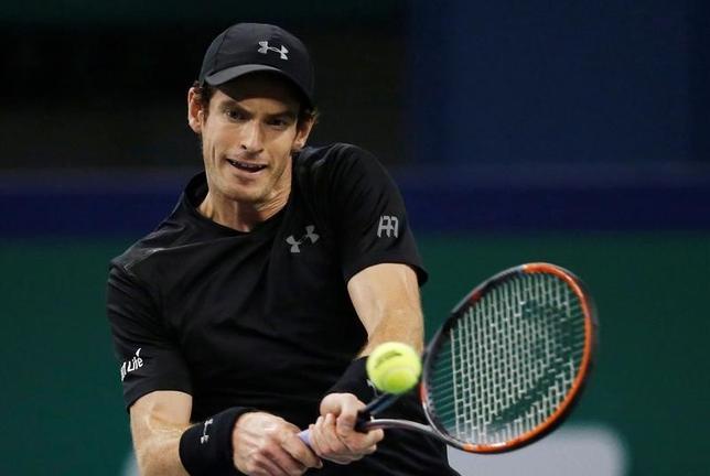 10月12日、男子テニスのマスターズ上海大会、シングルス2回戦、世界ランク2位で第2シードのアンディ・マリー(写真)はスティーブ・ジョンソンを6─3、6─2で下した(2016年 ロイター/Aly Song)