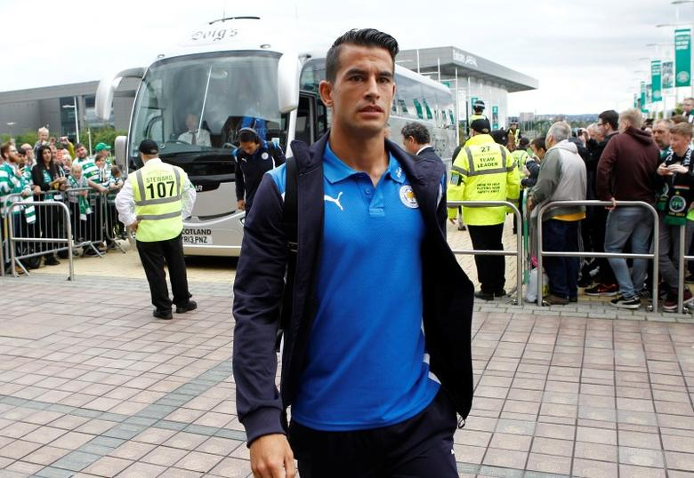 Britain Football Soccer - Celtic v Leicester City - International Champions Cup - Celtic Park - 23/7/16Leicester City's Luis Hernandez arrives before the gameAction Images via Reuters / Craig BroughLivepic