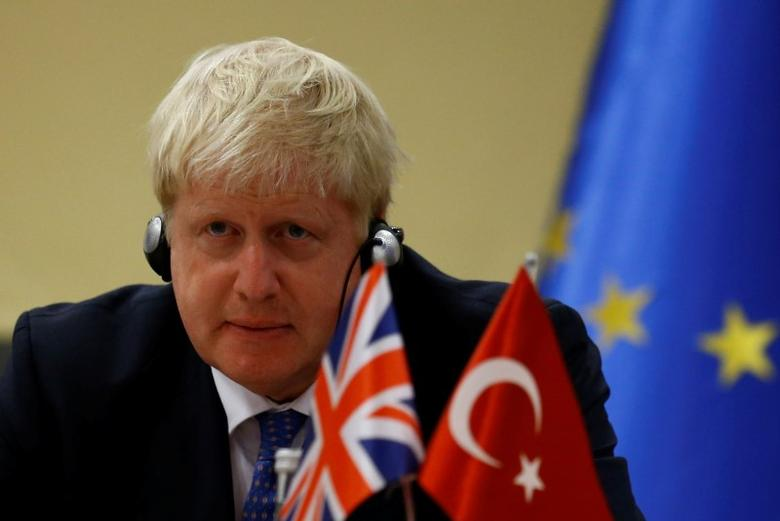 British Foreign Secretary Boris Johnson attends a joint news conference with Turkey's European Union Affairs Minister Omer Celik (not pictured) in Ankara, Turkey, September 26, 2016. REUTERS/Umit Bektas