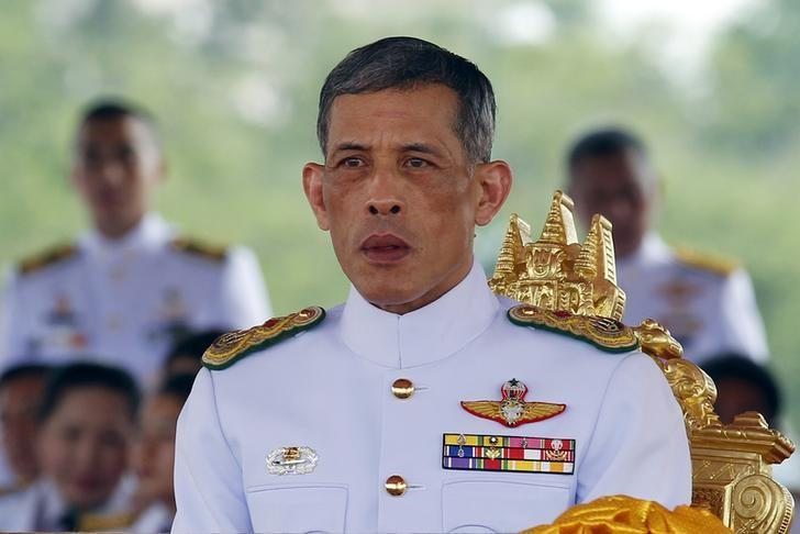 Thailand's Crown Prince Maha Vajiralongkorn watches the annual Royal Ploughing Ceremony in central Bangkok, Thailand, May 13, 2015.  REUTERS/Chaiwat Subprasom/File Photo