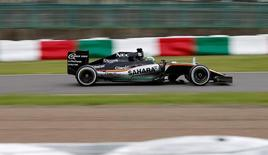 Formula One F1 - Japanese Grand Prix - Suzuka Circuit, Japan- 9/10/16. Force India's Nico Hulkenberg of Germany in action during the race. REUTERS/Toru Hanai