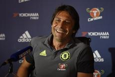 Britain Football Soccer - Chelsea - Antonio Conte Press Conference - Chelsea Training Ground - 14/10/16 Chelsea manager Antonio Conte during the press conference Action Images via Reuters / Tony O'Brien Livepic EDITORIAL USE ONLY. - RTSS8TG