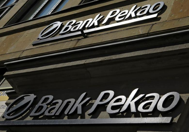 UniCredit's Polish unit Bank Pekao logo is seen on their branch in Warsaw, Poland September 7, 2016. Picture taken on September 7, 2016. REUTERS/Kacper Pempel