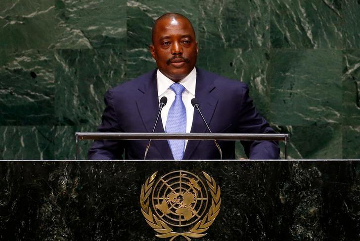 Joseph Kabila Kabange, President of the Democratic Republic of the Congo, addresses the 69th United Nations General Assembly at the U.N. headquarters in New York September 25, 2014. REUTERS/Lucas Jackson/Files
