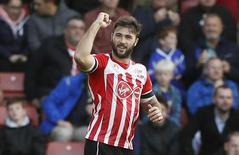 Britain Football Soccer - Southampton v Burnley - Premier League - St Mary's Stadium - 16/10/16. Southampton's Charlie Austin celebrates scoring their first goal. Reuters / Stefan Wermuth