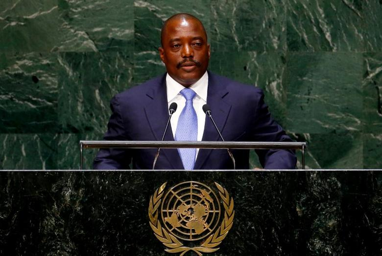 Joseph Kabila Kabange, President of the Democratic Republic of the Congo, addresses the 69th United Nations General Assembly at the U.N. headquarters in New York, U.S. September 25, 2014. REUTERS/Lucas Jackson/File Photo