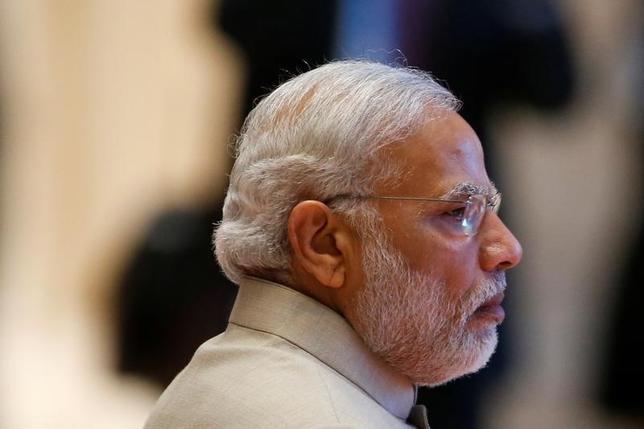 10月16日、インドのモディ首相は、インド西部のゴアで開かれた第8回BRICS(ブラジル、ロシア、インド、中国、南アフリカ)首脳会議で、パキスタンを「テロの母艦」と呼び、カシミール地域の領有権を争うパキスタンの孤立化へ向けた外交活動を加速させた。写真は同首相。ラオスの首都ビエンチャンで9月撮影(2016年 ロイター/Soe Zeya Tun)
