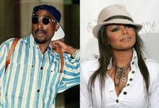 Tupac Shakur and Janet Jackson.   REUTERS/Combination