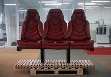 A view of Airgo's 3D printed prototype of their Orion long-haul aircraft seats at their manufacturing facility in Singapore October 7, 2016. Picture taken October 7, 2016.  REUTERS/Edgar Su