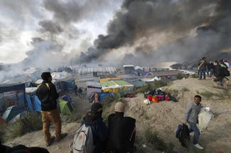 The burning Jungle of Calais
