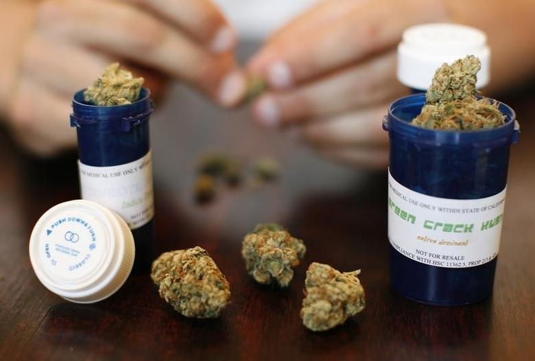 Medical marijuana is displayed in Los Angeles, California, U.S. August 6, 2007.  REUTERS/Mario Anzuoni/File Photo