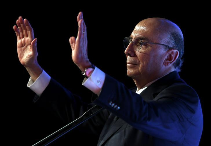 Brazil's Finance Minister Henrique Meirelles attends an economics and politics forum in Sao Paulo, Brazil, September 30, 2016. REUTERS/Paulo Whitaker