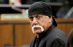 FILE PHOTO: Terry Bollea, aka Hulk Hogan, sits in court during his trial against Gawker Media, in St Petersburg, Florida March 17, 2016.    Dirk Shadd/Tampa Bay Times/Pool via Reuters