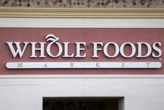 A Whole Foods Market store logo is pictured on a building in Boca Raton, Florida March 19, 2016. REUTERS/Carlo Allegri
