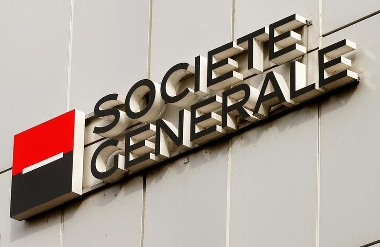 The logo of Societe Generale Private Banking is seen at an office building in Zurich, Switzerland October 13, 2016.  REUTERS/Arnd Wiegmann