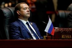 Russia's Prime Minister Dmitry Medvedev attends the East Asia Summit in Vientiane, Laos September 8, 2016.  REUTERS/Soe Zeya Tun/File Photo