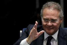 Presidente do Senado, Renan Calheiros, durante sessão da Casa, em Brasília 26/08/2016 REUTERS/Ueslei Marcelino