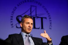 Daniel S. Loeb, founder of Third Point LLC, participates in a panel discussion during the Skybridge Alternatives (SALT) Conference in Las Vegas, Nevada May 9, 2012. SALT brings together public policy officials, capital allocators, and hedge fund managers to discuss financial markets. REUTERS/Steve Marcus (UNITED STATES - Tags: BUSINESS) - RTR31UF4