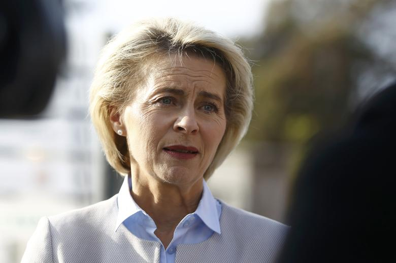German Defence Minister Ursula von der Leyen answers questions during a Reuters interview in Berlin, Germany, November 9, 2016.    REUTERS/Axel Schmidt