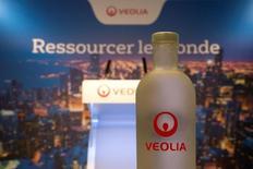 Veolia, qui est à suivre lundi à la Bourse de Paris, a été retenu par l'Arménie pour gérer l'ensemble de ses services d'eau et d'assainissement dans le cadre d'une délégation de service public de 800 millions d'euros sur 15 ans. /Photo d'archives/REUTERS/Charles Platiau