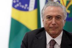 Presidente Michel Temer no Palácio do Planalto. 16/05/2016 REUTERS/Ueslei Marcelino